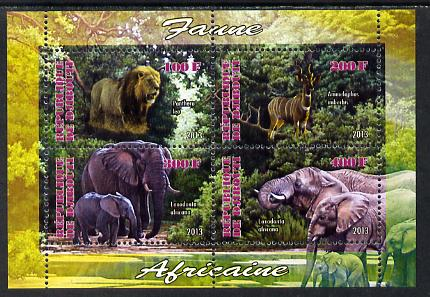 Djibouti 2013 Animals of Africa #2 perf sheetlet containing 4 values unmounted mint
