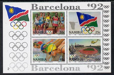 Namibia 1992 Barcelona Olympic Games perf m/sheet unmounted mint SG MS 601