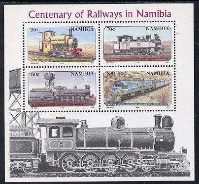Namibia 1995 Centenary of Namib Railways perf m/sheet unmounted mint SG MS 661