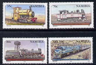 Namibia 1995 Centenary of Namib Railways perf set of 4 unmounted mint SG 657-60