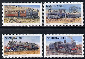 Namibia 1994 Steam Railways perf set of 4 unmounted mint SG 653-6