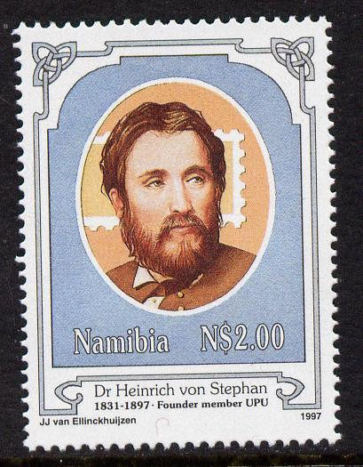 Namibia 1997 Death Centenary of Heinrich von Stephan (founder of UPU) unmounted mint SG709