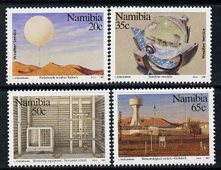 Namibia 1991 Weather Service perf set of 4 unmounted mint SG 568-71