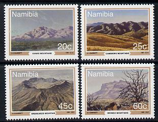 Namibia 1991 Mountains of Namibia perf set of 4 unmounted mint SG 576-9