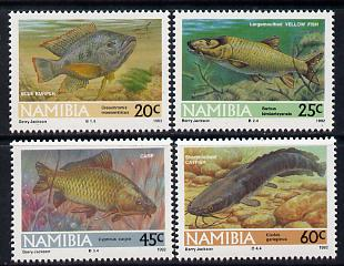 Namibia 1992 Freshwater Angling perf set of 4 unmounted mint SG 588-91