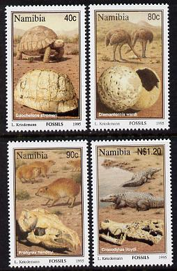 Namibia 1995 Fossils perf set of 4 unmounted mint SG 663-66