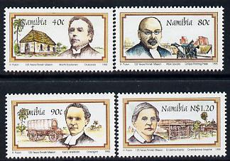 Namibia 1995 Finnish Missionaries perf set of 4 unmounted mint SG 667-70