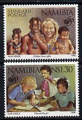 Namibia 1996 50th Anniversary of UNICEF perf set of 2 unmounted mint SG 686-87
