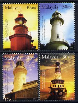 Malaysia 2004 Lighthouses perf set of 4 unmounted mint SG 1181-84
