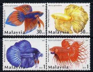 Malaysia 2003 Siamese Fighting Fish perf set of 4 unmounted mint SG 1133-36