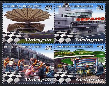 Malaysia 1999 Malaysian Grand Prix se-tenant perf block of 4 unmounted mint SG 797-800