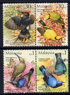 Malaysia & Singapore 2002 Joint Issue - Birds perf set of 4 unmounted mint SG 1080-83