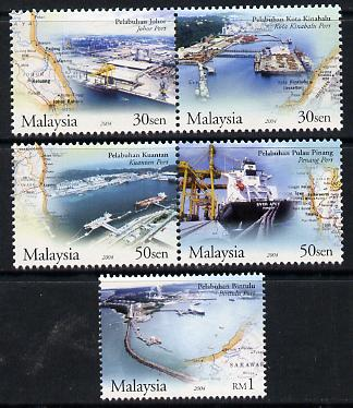 Malaysia 2004 Ports of Malaysia perf set of 5 unmounted mint SG 1213-17