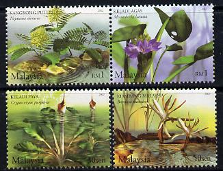Malaysia 2002 Aquatic Plants perf set of 4 unmounted mint SG 1075-78