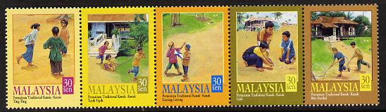 Malaysia 2003 Traditional Children's Games perf strip of 5 unmounted mint SG 888-92