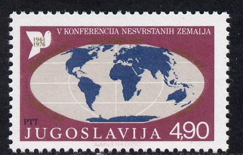 Yugoslavia 1976 Fifth Non-Aligned Nations Summit 4d90 unmounted mint, SG 1747