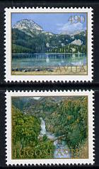 Yugoslavia 1978 Protection of the Environment perf set of 2 unmounted mint, SG 1838-39