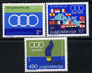 Yugoslavia 1979 Eighth Mediterranean Games perf set of 3 unmounted mint, SG 1888-90