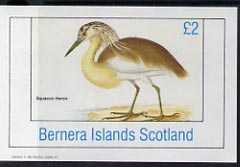 Bernera 1982 Squacco Heron imperf deluxe sheet (�2 value) unmounted mint