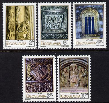 Yugoslavia 1979 Romanesque Sculpture perf set of 5 unmounted mint, SG 1903-07