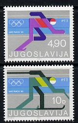 Yugoslavia 1980 Lake Placid Winter Olympics perf set of 2 unmounted mint, SG 1915-16