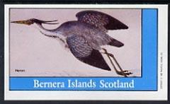 Bernera 1982 Heron imperf souvenir sheet (�1 value) unmounted mint