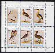 Staffa 1982 Waders (Bittern (2), Plover, Spoonbill, Whimbrel & Ruff) perf set of 6 values (15p to 75p) unmounted mint