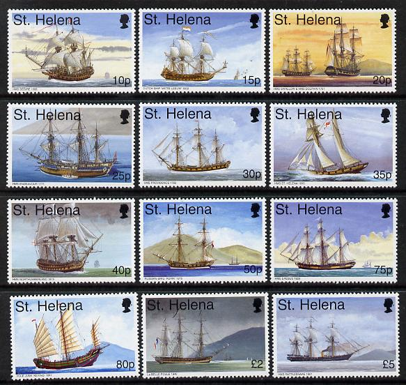 St Helena 1998 Maritime Heritage definitive set of 12 values complete to \A35 unmounted mint, SG 766-77