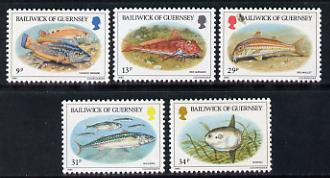 Guernsey 1985 Fish set of 5 unmounted mint, SG 332-36