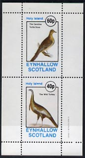Eynhallow 1982 Birds #11 (Turkey & Turtle Dove) perf  set of 2 values (40p & 60p) unmounted mint