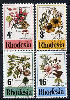 Rhodesia 1976 Trees perf set of 4 cds used SG 533-36
