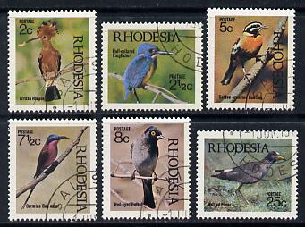Rhodesia 1971 Birds 1st series perf set of 6 cds used SG 459-64