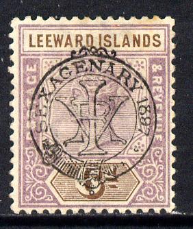 Leeward Islands 1897 QV Diamond Jubilee 6d mounted mint SG 13