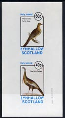 Eynhallow 1982 Birds #11 (Turkey & Turtle Dove) imperf  set of 2 values (40p & 60p) unmounted mint