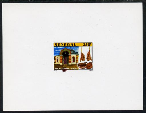 Senegal 2001 Craft Market 250f Bowls & Pendants imperf deluxe die proof in issued colours on white card as SG 1635