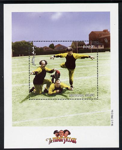 Mongolia 1998 The Three Stooges (Comedy series) perf m/sheet #6 containing 1 value (Playing Football) unmounted mint, SG MS 2697f