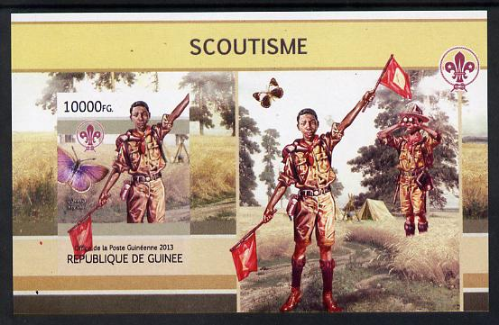 Guinea - Conakry 2013 Scouting & Butterflies #1 imperf m/sheet unmounted mint. Note this item is privately produced and is offered purely on its thematic appeal