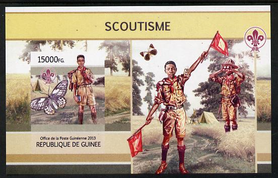 Guinea - Conakry 2013 Scouting & Butterflies #2 imperf m/sheet unmounted mint. Note this item is privately produced and is offered purely on its thematic appeal