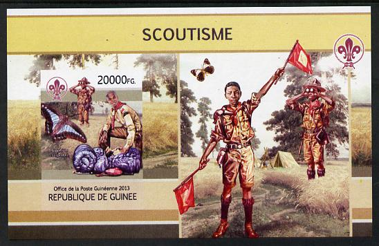 Guinea - Conakry 2013 Scouting & Butterflies #3 imperf m/sheet unmounted mint. Note this item is privately produced and is offered purely on its thematic appeal
