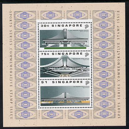 Singapore 1989 Opening of Indoor Stadium m/sheet unmounted mint SG MS614