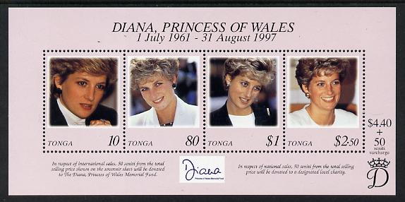 Tonga 1997 Princess Diana Commemoration perf m/sheet unmounted mint SG MS 1421