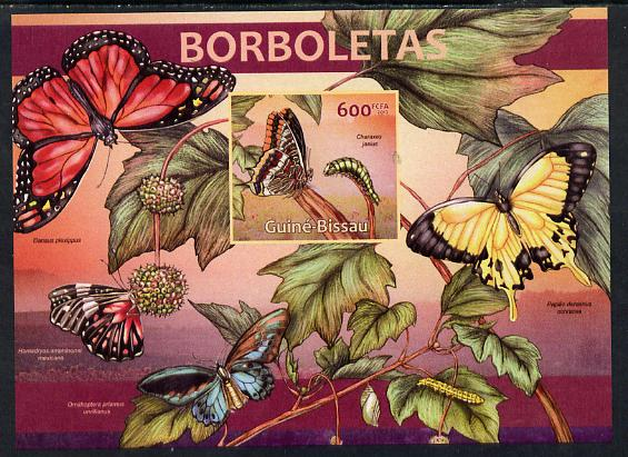 Guinea - Bissau 2013 Butterflies #01 imperf m/sheet unmounted mint. Note this item is privately produced and is offered purely on its thematic appeal