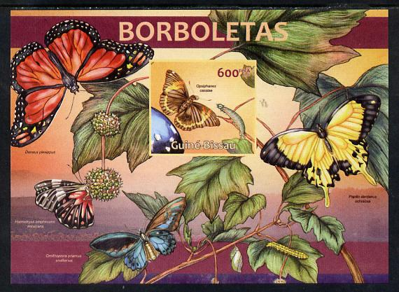 Guinea - Bissau 2013 Butterflies #02 imperf m/sheet unmounted mint. Note this item is privately produced and is offered purely on its thematic appeal