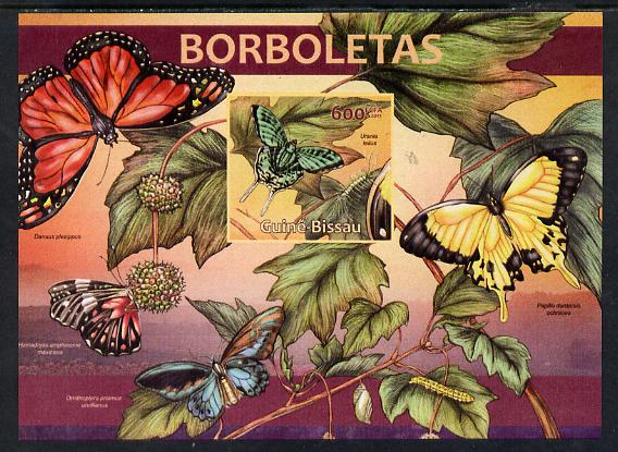 Guinea - Bissau 2013 Butterflies #04 imperf m/sheet unmounted mint. Note this item is privately produced and is offered purely on its thematic appeal
