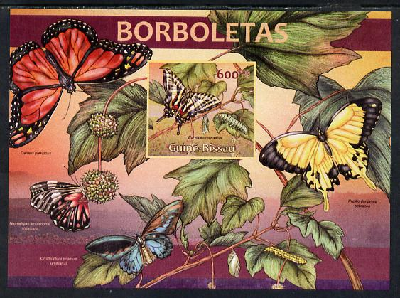 Guinea - Bissau 2013 Butterflies #05 imperf m/sheet unmounted mint. Note this item is privately produced and is offered purely on its thematic appeal