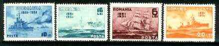 Rumania 1931 Rumanian Navy set of 4 unmounted mint, SG 1205-08, Mi 402-05