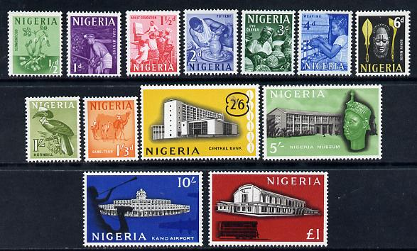 Nigeria 1961 Pictorial definitive set complete - 13 values unmounted mint SG 89-101, stamps on women, stamps on food