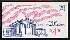 Booklet - United States 1983 Flag over Supreme Court $4 booklet containing 2 x panes SG 1924b (SB 116)