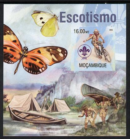 Mozambique 2013 Scouting & Butterflies #1 imperf m/sheet unmounted mint. Note this item is privately produced and is offered purely on its thematic appeal
