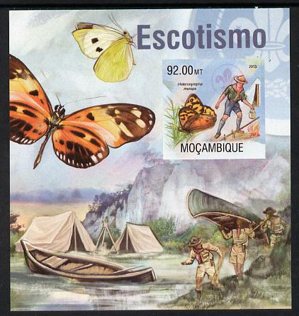 Mozambique 2013 Scouting & Butterflies #2 imperf m/sheet unmounted mint. Note this item is privately produced and is offered purely on its thematic appeal